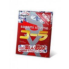 Ароматизированный презерватив Sagami Xtreme COLA - 1 шт.  С этим кондомом от Sagami в привычной мелодии экстаза появятся новые ноты.