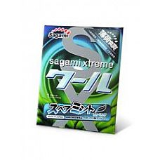 Презерватив Sagami Xtreme Mint с ароматом мяты - 1 шт.  Латексный презерватив с ароматом мяты.