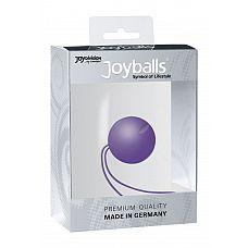 Фиолетовый вагинальный шарик Joyballs с петелькой  Фиолетовый вагинальный шарик Joyballs с петелькой.