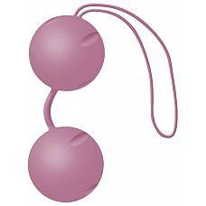 Нежно-розовые вагинальные шарики Joyballs с петелькой  Нежно-розовые вагинальные шарики Joyballs с петелькой.