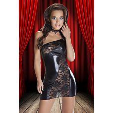 Смелое платье Sila из кружев и ткани с wet-эффектом  Смелое платье Sila из кружев и ткани с wet-эффектом.