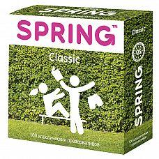 Презервативы Spring Classic классические 1 блок (100 шт)  Гладкие нежные презервативы с оптимальным количеством гипоаллергеннои? смазки для комфорта и безопасности обоих партнеров!