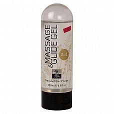 Массажное масло и лубрикант Massage    Glide Gel - 200 мл.  2-в-1 - массажный гель и лубрикант! Используется для предварительных ласк, а также непосредственно во время полового акта, как лубрикант.