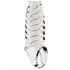 Прозрачная насадка на пенис SONO  21 с открытой головкой  Насадка на пенис с открытой головкой, изготовленная из ТПЕ.