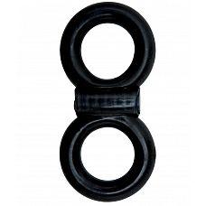 Эрекционное кольцо Adam Male Toys Cock   Ball Infinity P.O.P.  Эрекционное виброкольцо черного цвета.