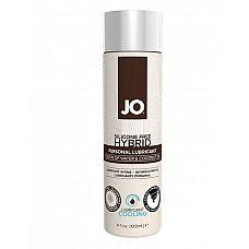 Водно-масляный лубрикант с охлаждающим эффектом JO Silicon free Hybrid Lubricant COOLING - 120 мл.  Лубрикант на водно-масляной основе JO Hybrid Lubricant с охлаждающим эффектом.
