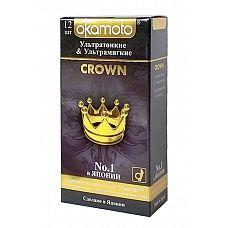 Презервативы Okamoto Crown № 12  Презервативы Okamoto Crown № 12 классической формы с накопителем.