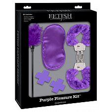 """Набор для интимных удовольствий Fetish Fantasy Limited Edition Purple Passion Kit - Purple  Набор  для BDSM-игры для начинающих из коллекции Fetish Fantasy Series Limited Edition, вдохновленной на создание всемирно известной трилогией """"Пятьдесят оттенков""""."""