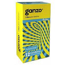 Презервативы GANZO ribs No12