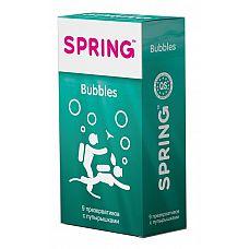 Презервативы SPRING BUBBLES с пупырышками - 9 шт.  Презервативы SPRING BUBBLES с пупырышками.