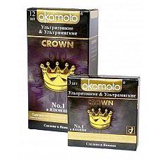"""Презервативы OKAMOTO Crown No3  """"Презервативы Okamoto серии Ok    1 по продажам в Японии  1, США, Германии, Франции, Норвегии."""
