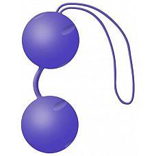 Фиолетовые вагинальные шарики Joyballs Trend  Два шарика, внутри каждого - шарик меньшего диаметра.