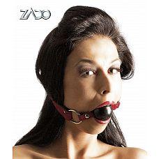 Кляп-шар на кожаных ремешках ZADO Gag  Жутко эротичный! Этот кожаный кляп с твердым силиконовым шариком и регулируемыми ремнями, разнообразит Ваши сексуальные игры.