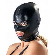 Маска на голову Head Mask black  Маска на голову с прорезями для рта и глаз.