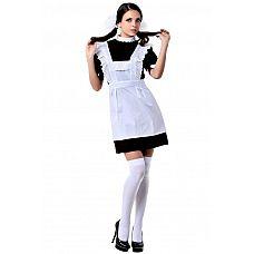 Костюм Школьная форма CCCР (Le Frivole), L/XL,   Неиспорченная девочка в школьном платье и фартуке.