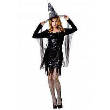 Костюм Ведьмочки - Le Frivole, S/M,   Костюм состоит изголовного убора иплатья с накидкой.