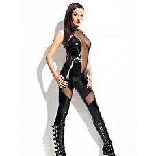 Комбинезон Ilse (Mistress collection), L/XL, Черный  Очень дерзкий, хищно-сексуальный комбинезонIlse, облегающий тело как вторая кожа, из коллекции для тех женщин, которые уверены в своей неотразимости и знают, как подчинять себе мужчин.