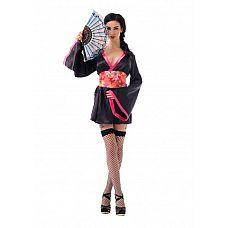 Костюм Азиатской соблазнительницы - Le Frivole, S/M,   Набор состоит из кимоно, пояса, веера и чулочков.