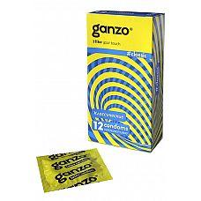 Презервативы Ganzo Classic № 12  Презервативы Ganzo Classic № 12 классической формы с накопителем в обильной смазке на водной основе.