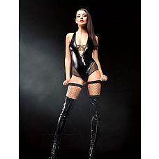 Боди Claudia premium (Mistress collection), S/M, Черный  Возбуждающее боди для чувственной игры.