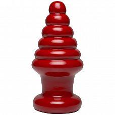 Красный анальный плаг Destroyer Cherry Bomb - 22,9 см.  Поклонники экстремального растяжения ануса по достоинству оценят такой плаг   конусообразный, с сильным волнообразным рифлением.