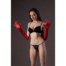 Высокие атласные перчатки  Красивые эластичные перчатки чуть выше локтя.