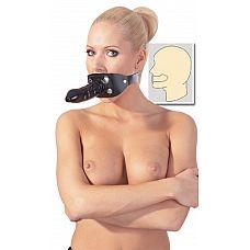 Кожаный кляп с фаллосом ZADO Leather Gag  Кожаный кляп для рта с внешним латексным пенисом на приспосабливаемом черном ремне из натуральной кожи.