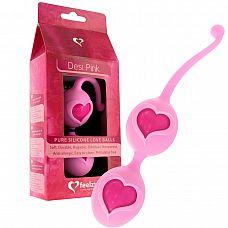 Розовые вагинальные шарики Desi Love Balls  Вагинальные вибрирующие шарики со смещенным центром тяжести.