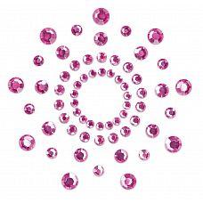 Розовые наклейки на грудь Mimi Bijoux  Изысканные наклейки на соски Mimi - это выбор настоящих аристократов! Камень - это всегда стильно, сдержанно и в то же время благородно.