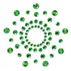 Зеленые наклейки на грудь Mimi Bijoux  Изысканные наклейки на соски Mimi - это выбор настоящих аристократов! Камень - это всегда стильно, сдержанно и в то же время благородно.