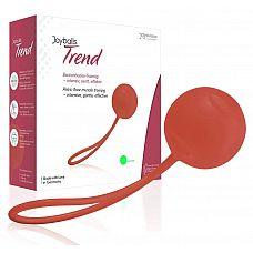 Красный вагинальный шарик Joyballs Trend Single  Красный вагинальный шарик Joyballs Trend Single. С шнурком для извлечения.