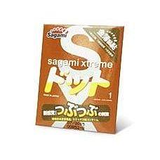 Презерватив Sagami Xtreme FEEL UP с точечной текстурой и линиями прилегания - 1 шт.  Интимная близость будет экстра чувственной для обоих, если вы решите использовать для защиты от беременности и ЗППП презерватив Sagami Xtreme FEEL UP.