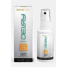 HOT Delay спрей пролонгатор  для мужчин 50мл  Восхитительный спрей для продления удовольствия и профилактики преждевременного семяизвержения.
