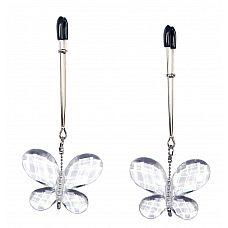 Зажимы для сосков с подвесками-бабочками Butterfly Clamps  Зажимы для сосков с подвесками-бабочками Butterfly Clamps.