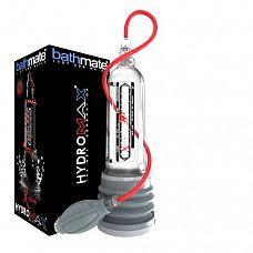 Гидропомпа Hydromax X50 Xtreme с прозрачной колбой  XTREME X50 является самой мощной в мире гидропомпой! В комплект добавлена воздушная помпа и шланг которые, с помощью которых очень быстро можно снять нагрузку, спустив давление через клапан.