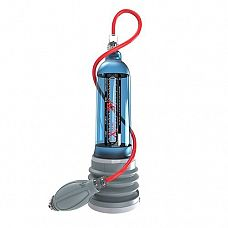 Гидропомпа Hydromax X50 Xtreme с синей колбой  XTREME X50 является самой мощной в мире гидропомпой! В комплект добавлена воздушная помпа и шланг которые, с помощью которых очень быстро можно снять нагрузку, спустив давление через клапан.