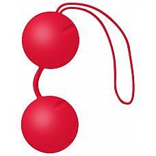 Красные вагинальные шарики Joyballs Trend  Два шарика, внутри каждого - шарик меньшего диаметра.