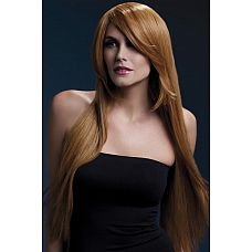 Рыжеватый парик с косой чёлкой Amber  Покорить роскошными длинными золотыми волосами легко в этом парике.