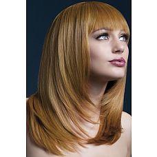 Рыжеватый парик со стрижкой лесенкой  Хочется ненадолго стать рыжей и бесстыжей, а волосы красить жалко? Наденьте этот парик.