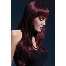 Вишнёвый парик Sienna  Хочется создать готический образ, но черные волосы не идут? Вам поможет парик Сиенна темно-вишневого цвета.