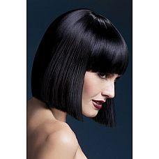 Парик брюнетки со стрижкой боб Lola  Для создания властного и страстного образа прекрасно подойдет парик Лола.