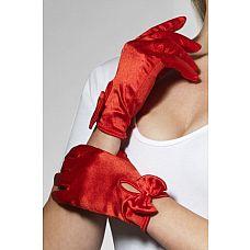Атласные перчатки с бантом  Элегантные короткие атласные перчатки с кокетливыми бантами сделают образ их обладательницы изысканным и манящим.