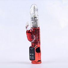 Виброкомпьютер красный с 24 видами вибрации и ротации 47048-MM