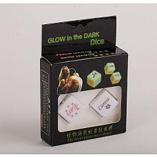 """Игровые кости камасутра светящиеся 47402-MM  """"Светящиеся игровые кости для семейных пар и любовников."""
