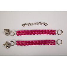 """Наножники жемчужные красные 47500-1-MM  """"Красивые наножники из красного жемчуга с замочками в виде сердца  и четырьмя ключиками."""