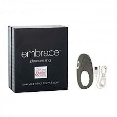 Виброкольцо Embrace pleasure rings - California Exotic Novelties, Розовый  Перезаряжаемое виброкольцо– это замечательная секс-игрушка, которая позволит получить удовольствие сразу обоим партнерам во время полового акта.