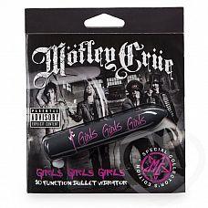 Чёрная вибропуля Motley Crue Girls   Яркий и стильный вибратор из специальной серии, посвященной культовой глэм-рок группе Motley Crue, известной помимо своего музыкального творчества эпатажными выходками и бесконечными авантюрами с женщинами.
