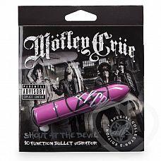 Розовая вибропуля Motley Shout at the Devil   Яркий и стильный вибратор из специальной серии, посвященной культовой глэм-рок группе Motley Crue, известной помимо своего музыкального творчества эпатажными выходками и бесконечными авантюрами с женщинами.
