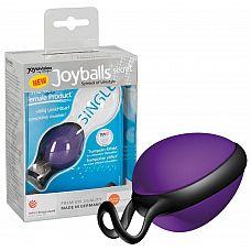 Фиолетовый вагинальный шарик со смещенным центром тяжести Joyballs secret  Фиолетовый вагинальный шарик со смещенным центром тяжести Joyballs secret.