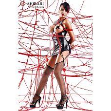 Платье с открытой грудью Yuriko в комплекте с веревками для связывания  Платье с открытой грудью Yuriko в комплекте с веревками для связывания В комплекте: платье, трусики-стринги, чулки, 2 веревки для связывания длиной 8 метров каждая.
